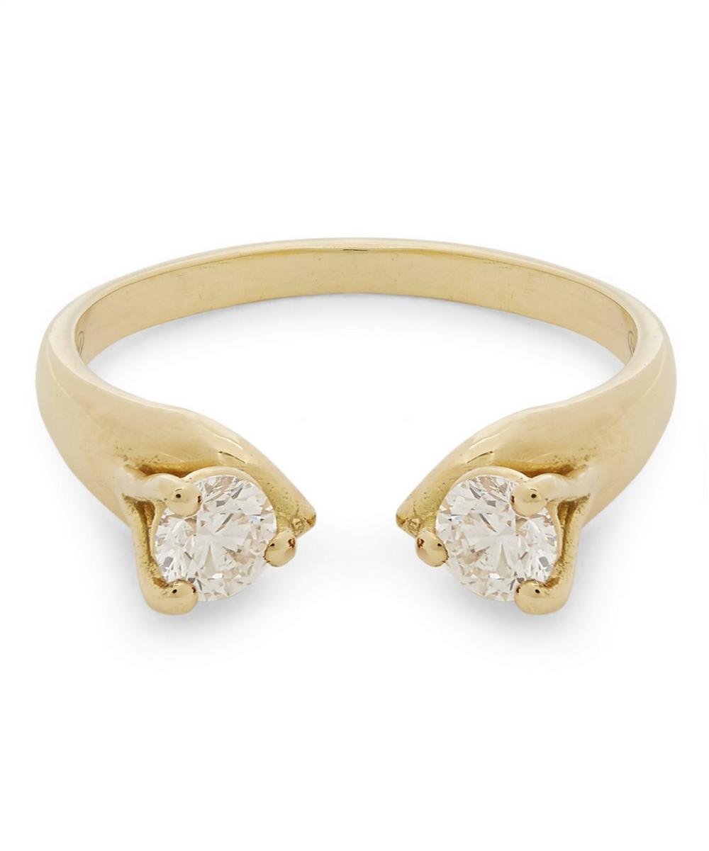 Gold Mirror Diamond Ring
