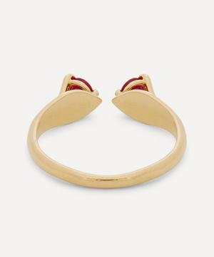 Gold Mirror Ruby Ring