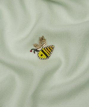 Embroidered Bees Cashmere Scarf