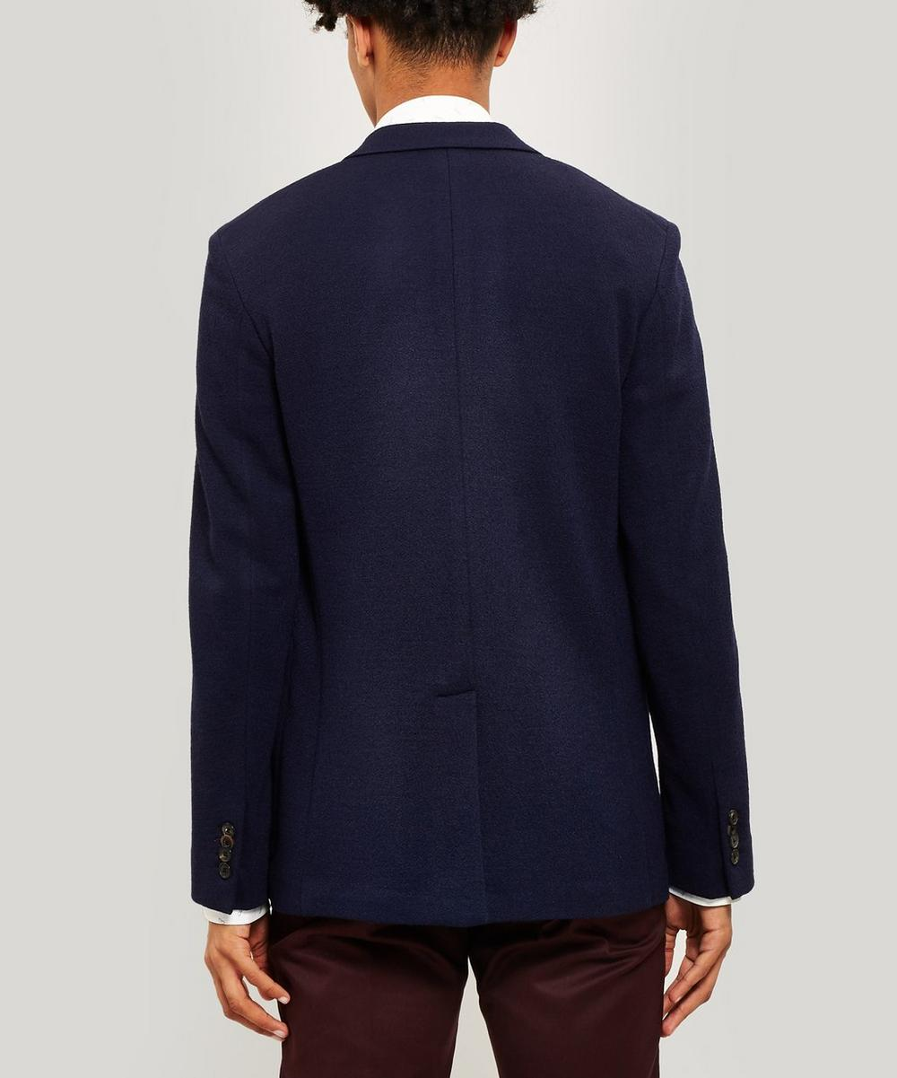 Wool-Blend Double-Breasted Blazer