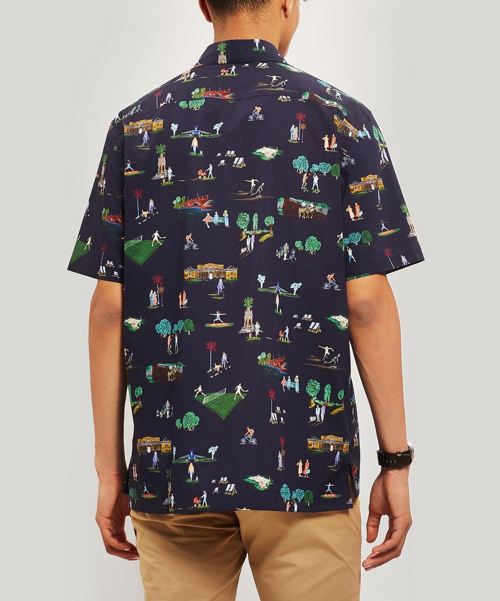 London Parks Print Short Sleeve Cotton Shirt