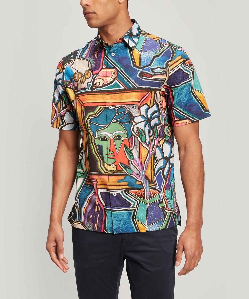 Artist Studio Print Short Sleeve Shirt