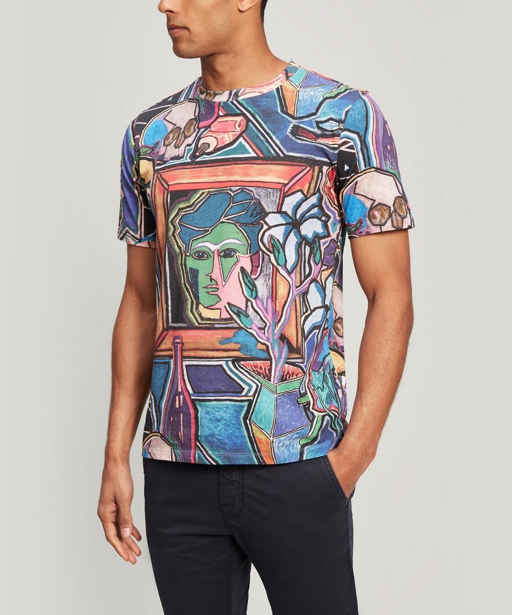 Artist Studio Print Cotton T-Shirt