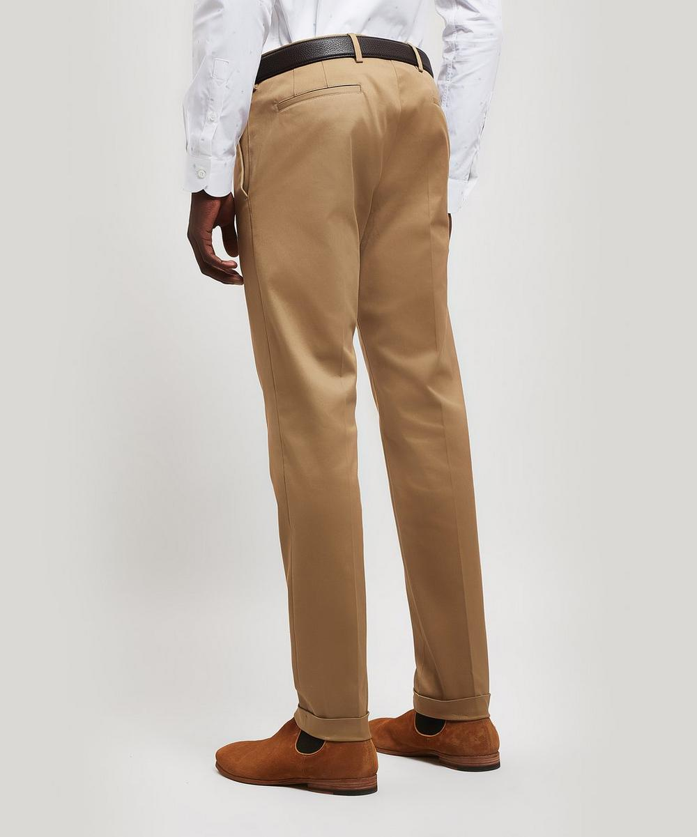 Cotton Twill Turn-Up Trousers