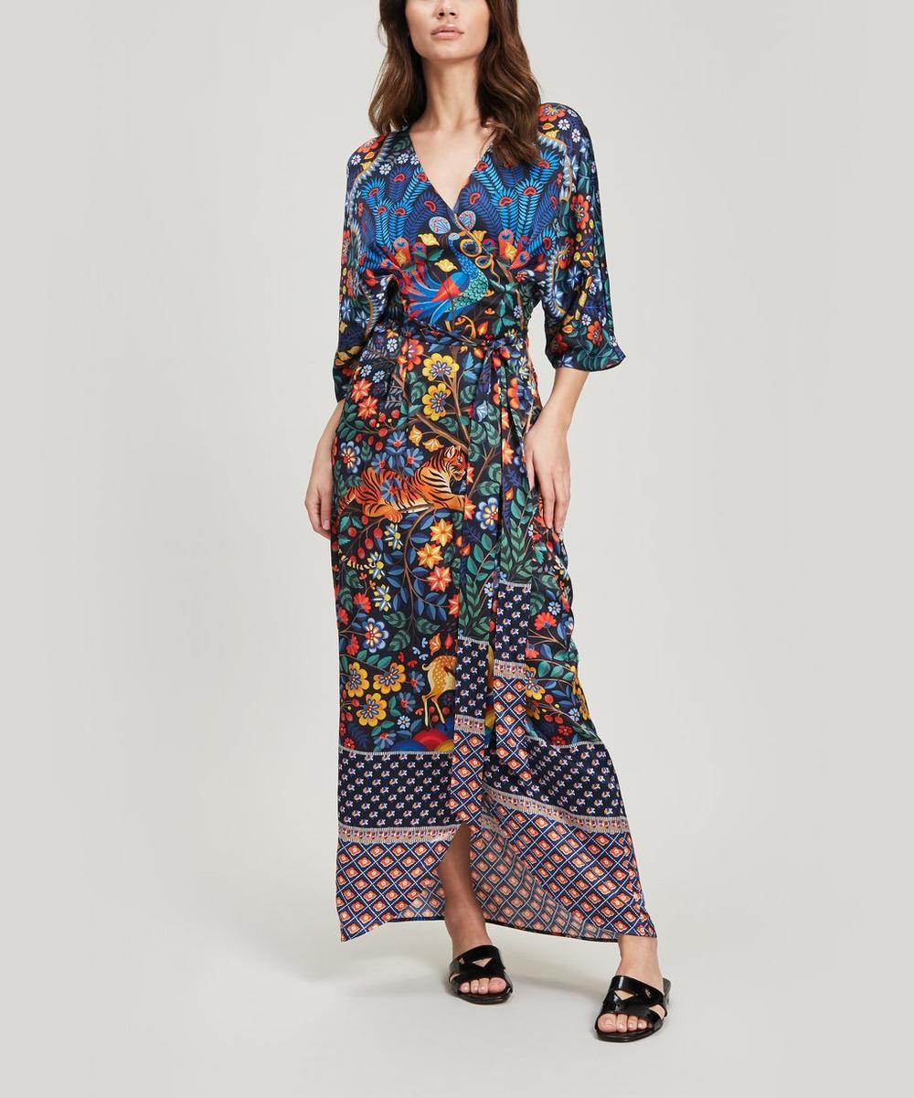 Mina Sandwashed Silk Wrap Dress