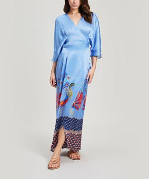 Nylah Sandwashed Silk Wrap Dress
