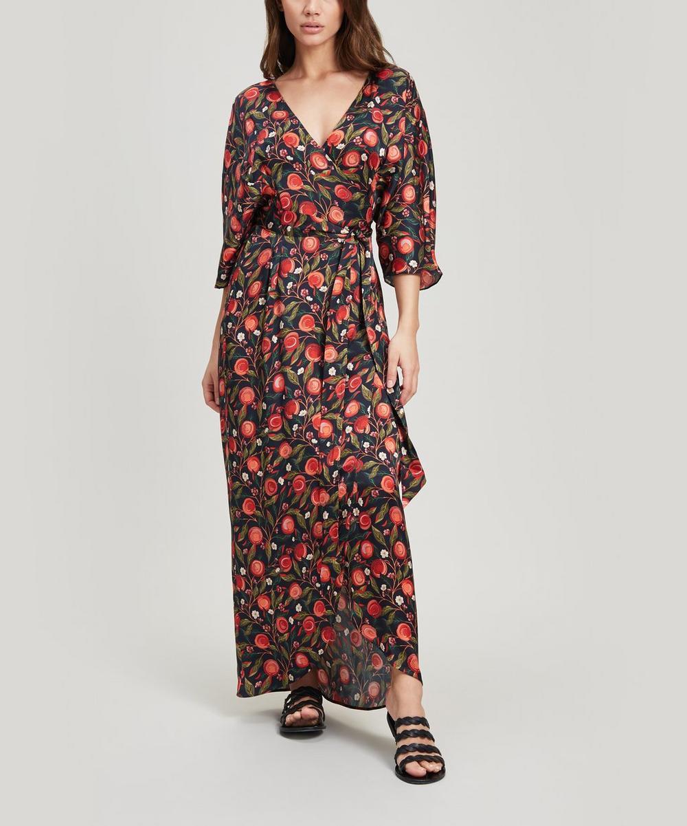 Valencia Sandwashed Silk Wrap Dress