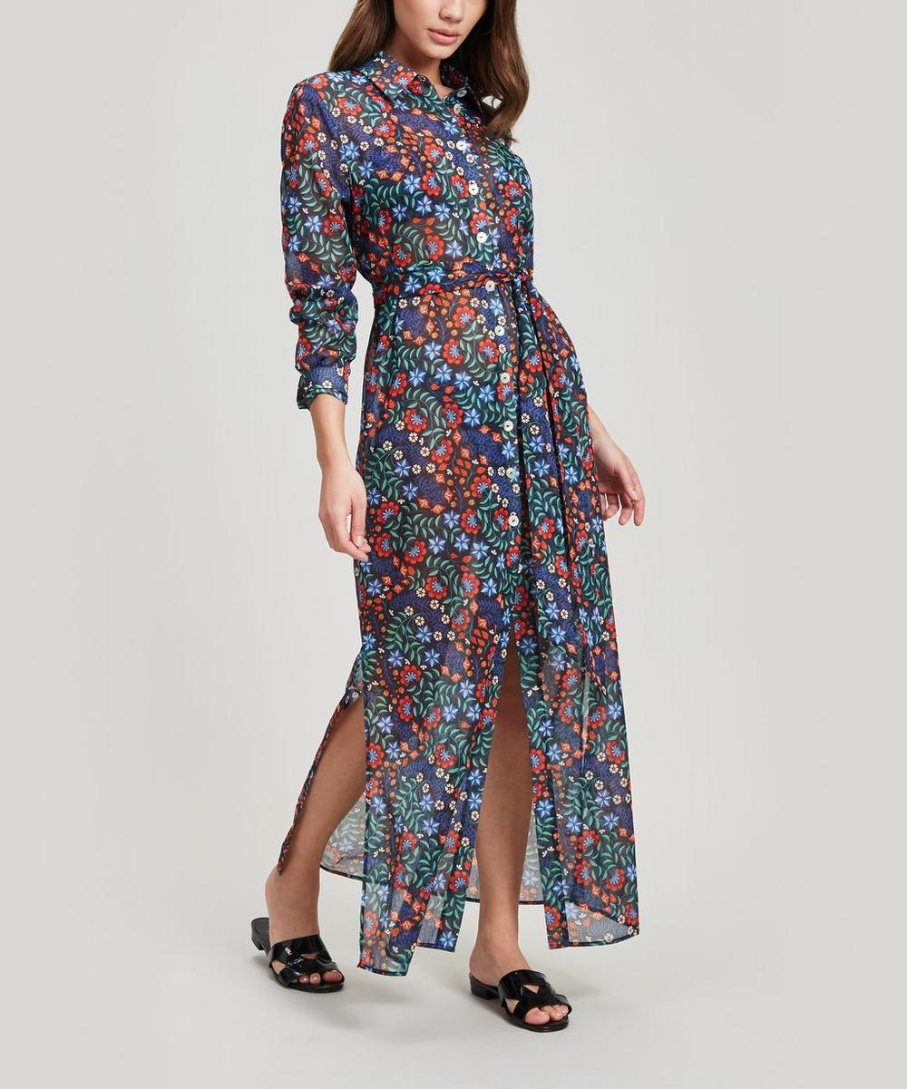 Kiya Cotton Chiffon Shirt Dress