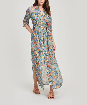 Valencia Cotton Chiffon Shirt Dress
