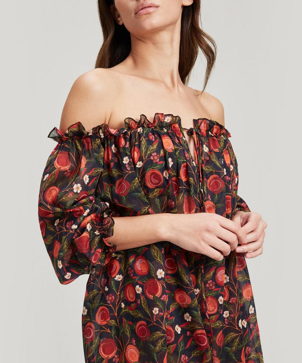 Valencia Cotton Chiffon Short Off-the-Shoulder Dress