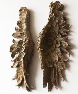 Distressed Bronze Angel Wings Wall Art
