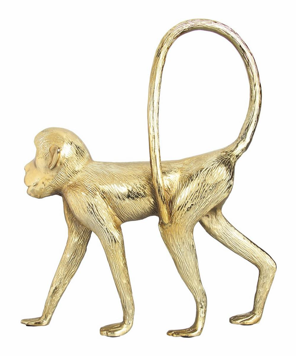 Gold-Tone Monkey Decorative Ornament