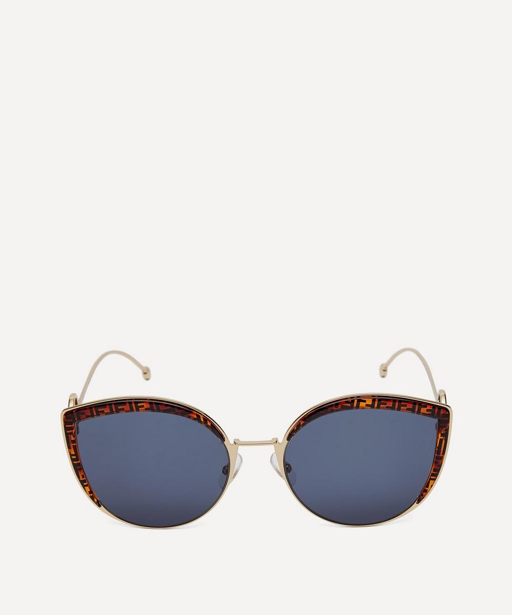 Oversized Cat-Eye Logo Sunglasses