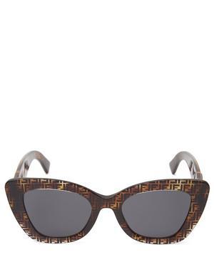 Cat-Eye Logo Sunglasses