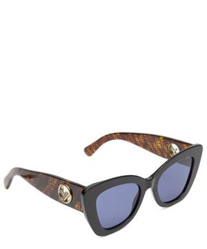 Cat-Eye Logo Sunglasses