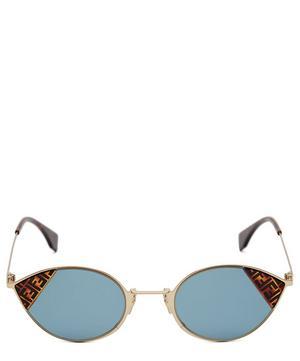 Cut-Eye Logo Sunglasses