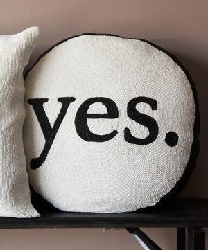Yes Or No Beaded Double-Sided Cushion