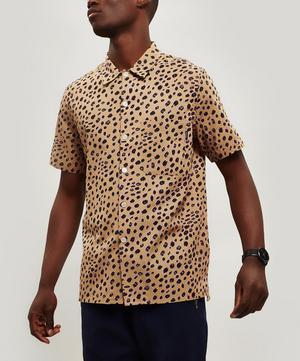 Cheetah Print Cotton Shirt