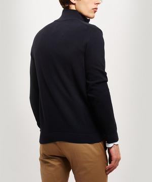 Zip-Through Cotton Cardigan