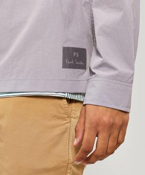 Lightweight Nylon Shirt Jacket