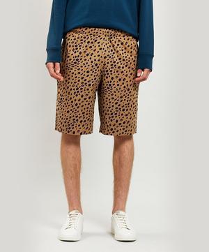 Cheetah Print Cotton Shorts