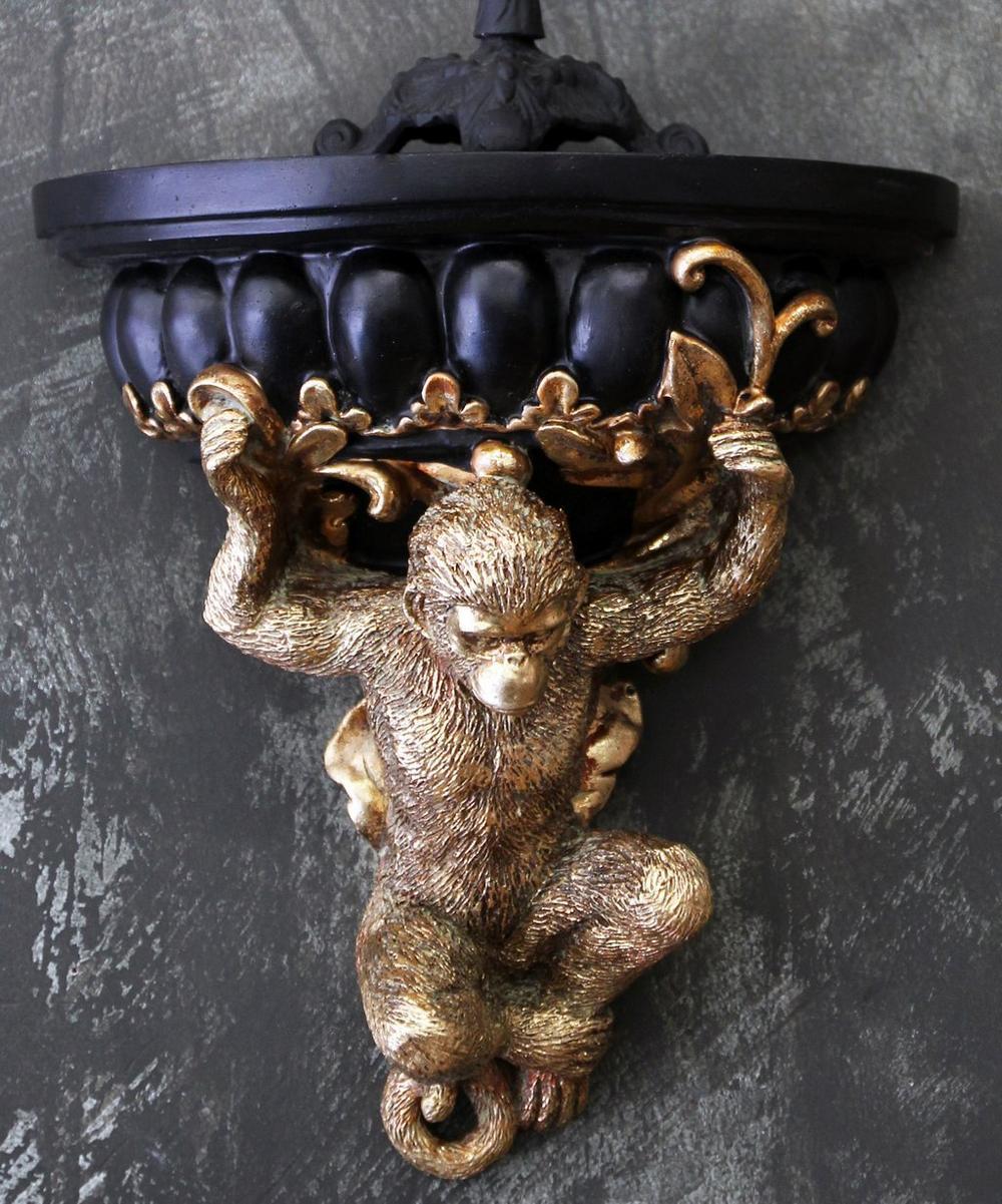 Gold-Tone Monkey Shelf
