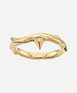 Gold Vermeil Rose Thorn Band Ring