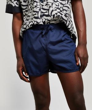 Navy Tana Lawn Cotton Lounge Shorts