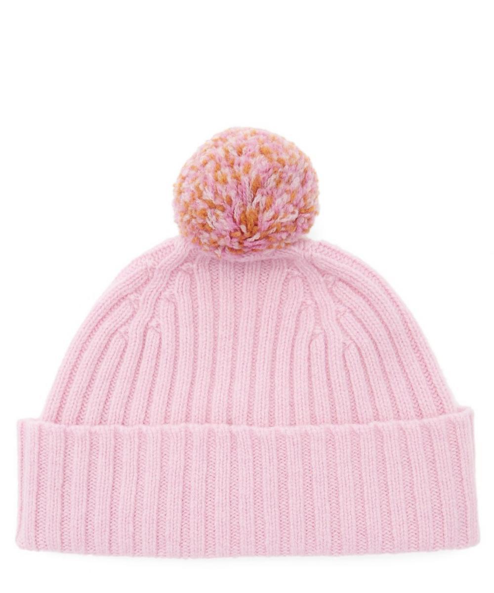 Seamless Pom Pom Wool Beanie Hat