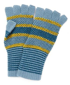 Tuck Stitch Wool Fingerless Gloves