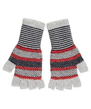 Tuck Stitch Wool Fingerless Gloves