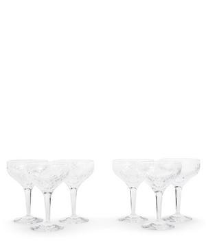 Barwell Cut Crystal Champagne Coupes Set of Six
