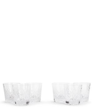 Barwell Cut Crystal Rocks Glass Set of Six