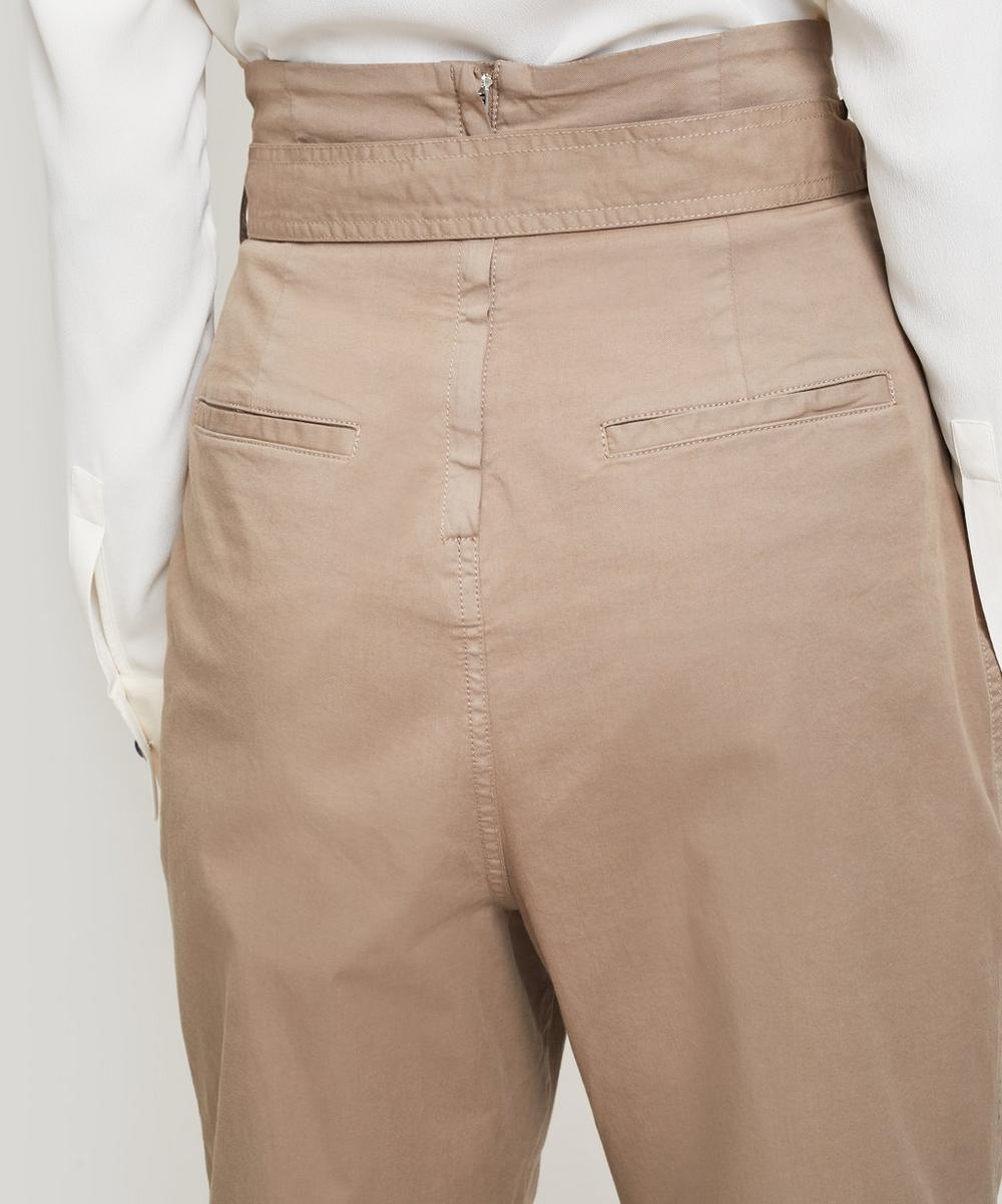 Via High-Rise Tapered Trousers