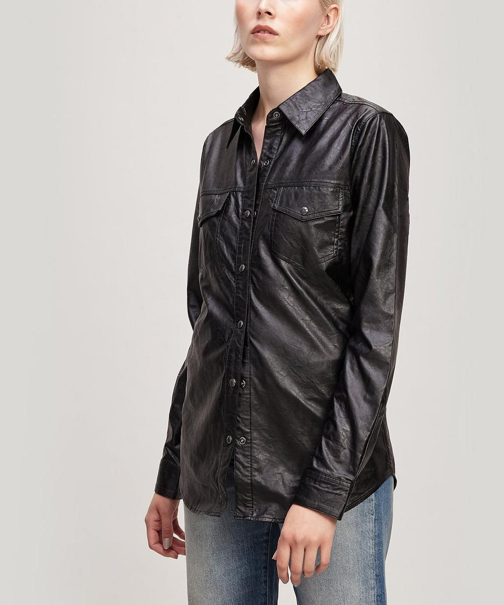 J Brand T-shirts PERFECT FAUX LEATHER SHIRT