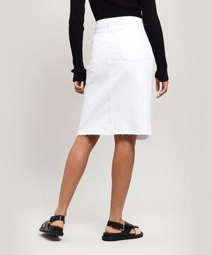 Trystan Raw-Hem Denim Skirt