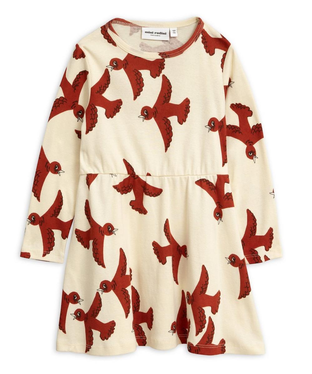 Flying Birds Long-Sleeve Dress 3-18 Months