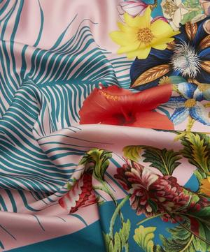 Plume de Lune Floral and Feather Silk Scarf