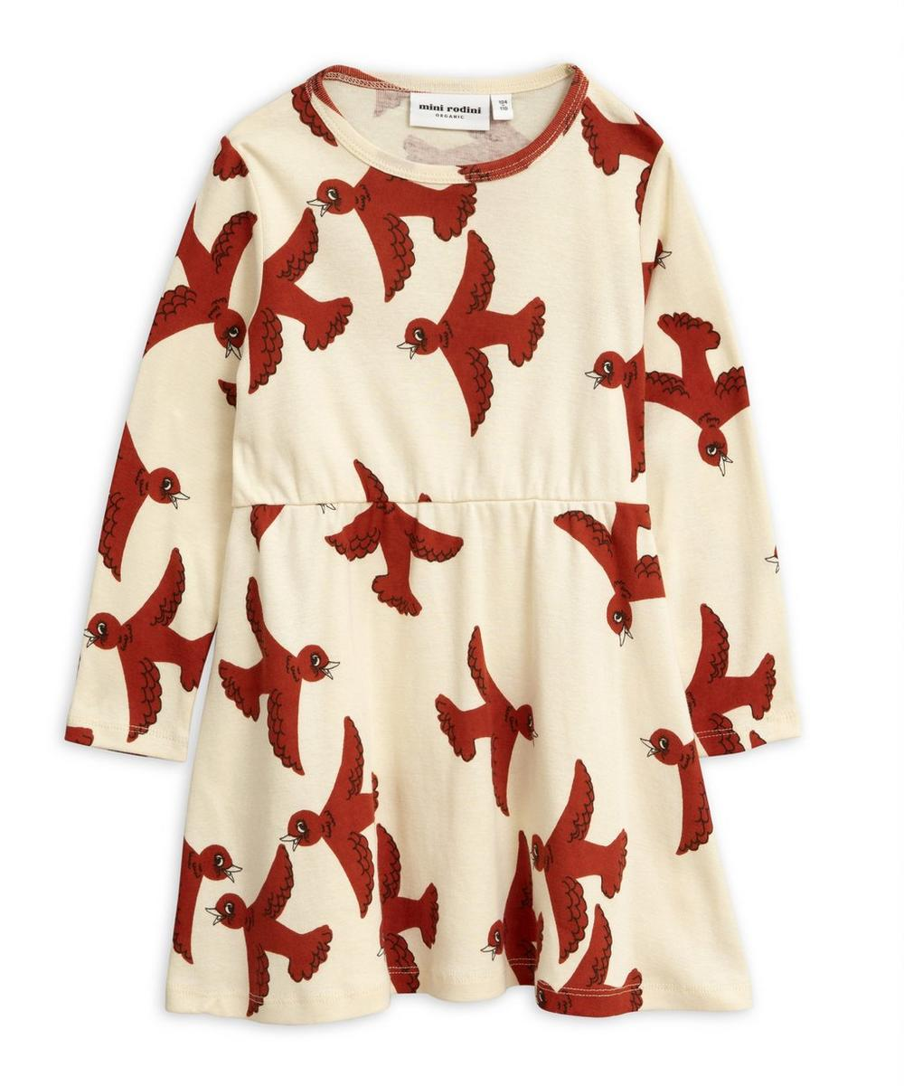 Flying Birds Long-Sleeve Dress 2-8 Years