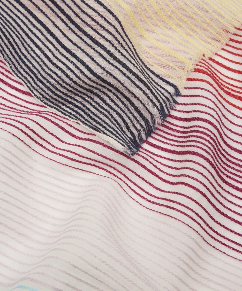 Crinkle Swirl Cotton Scarf