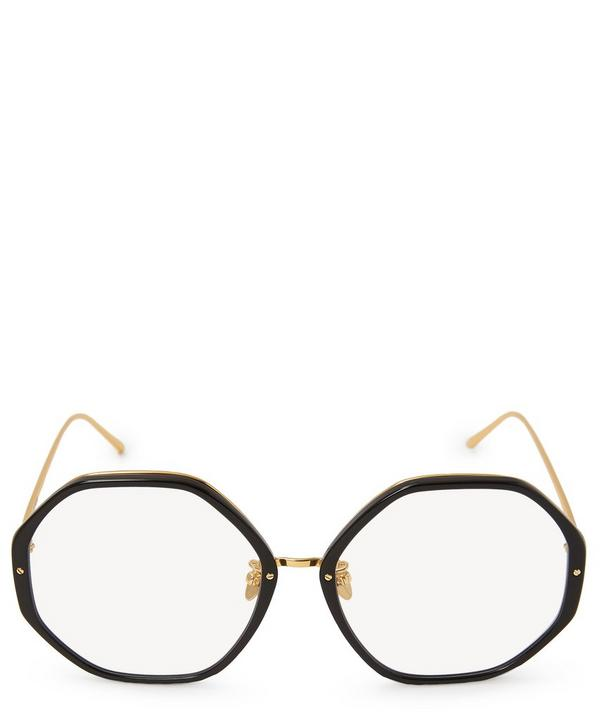 2099641fef2d Gold-Plated Oversized Hexagonal Optical Glasses ...