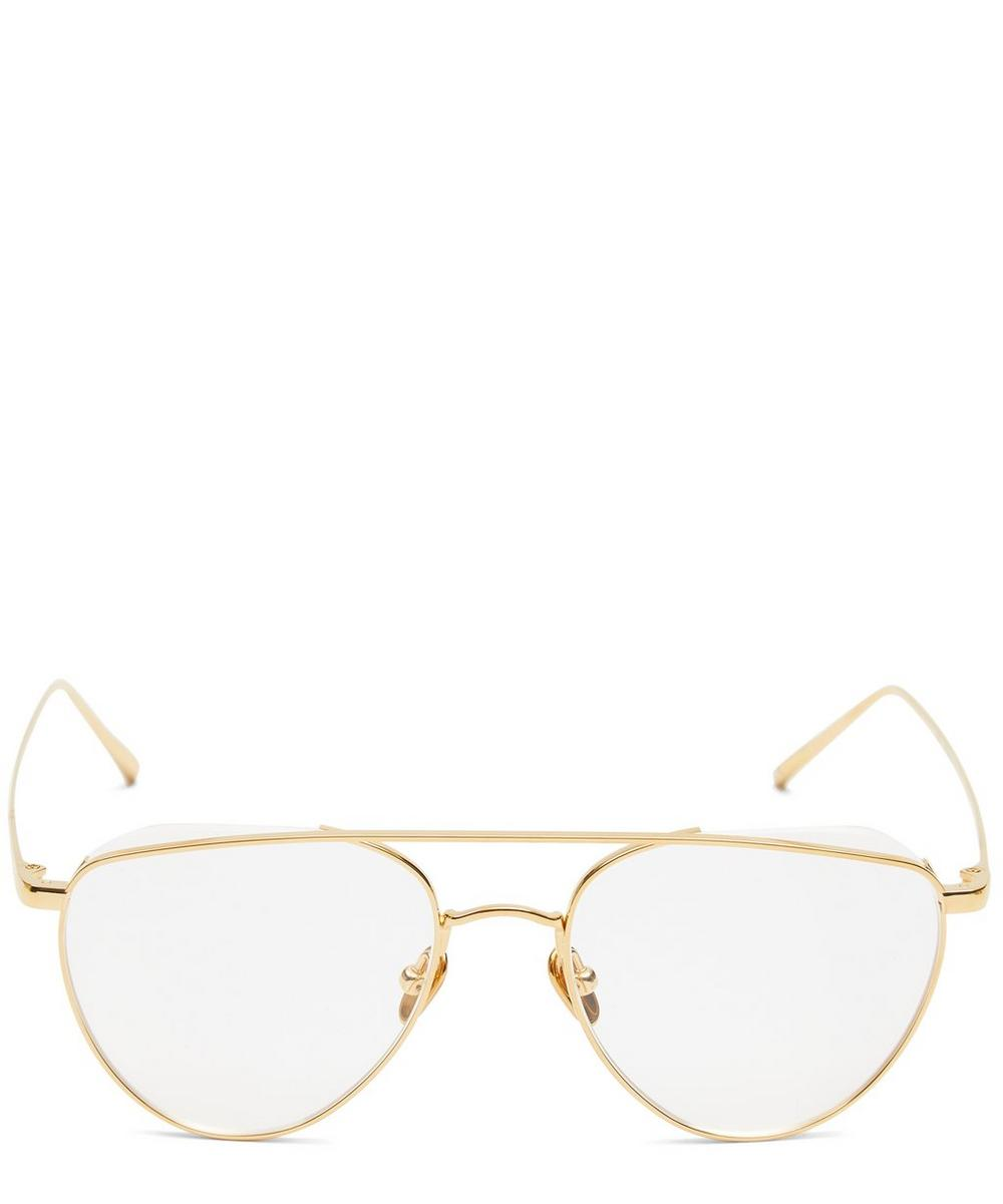 Gold-Plated Auguste Aviator Optical Glasses