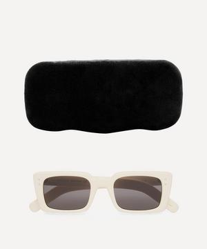 Slim Rectangular Acetate Sunglasses