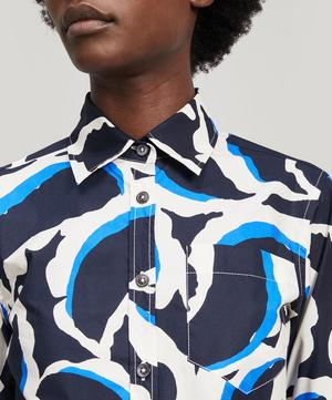 Tear Drop Print Cotton Poplin Shirt