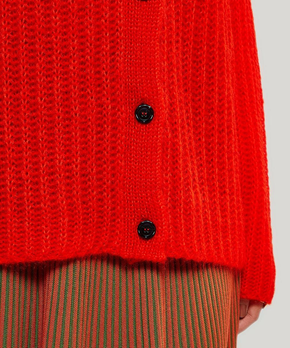 Oversized Knitted Mohair-Blend Cardigan