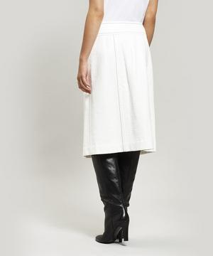 Coated Tweed Wrap Skirt