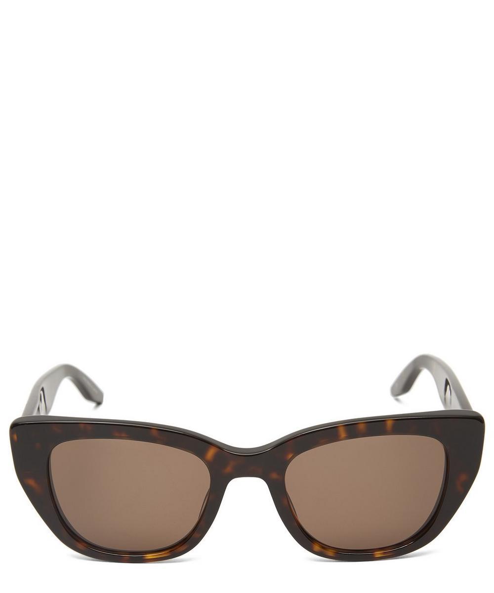 Barton Perreira Kalua Oversized Cat-Eye Wayfarer Sunglasses In Brown