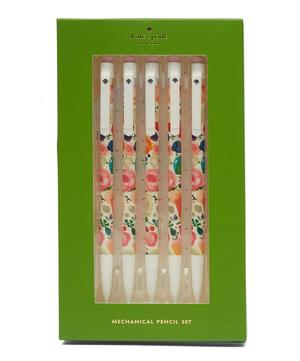 Mechanical Floral Pencils Set of Five