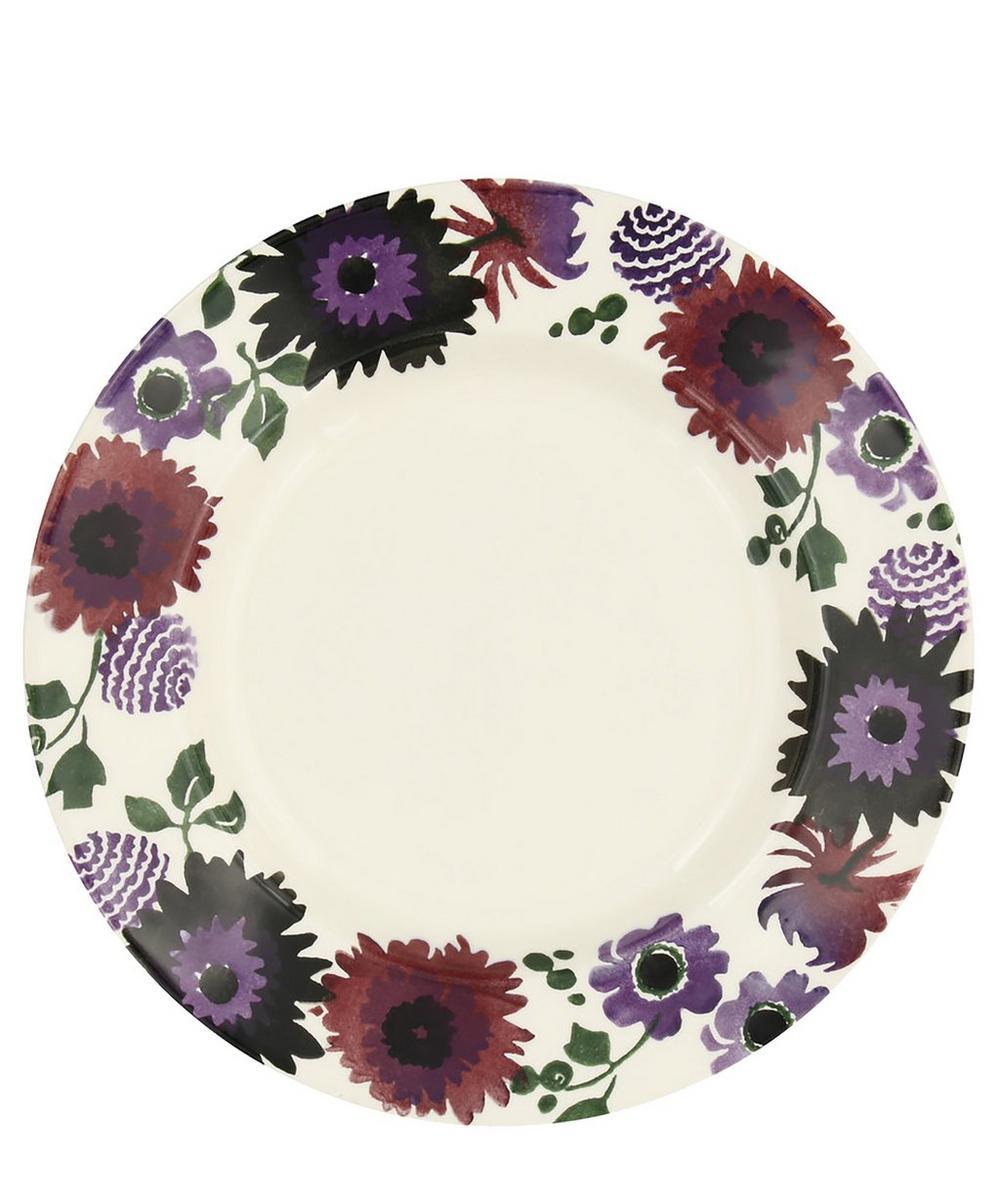 Dark Dahlias 10.5-Inch Plate