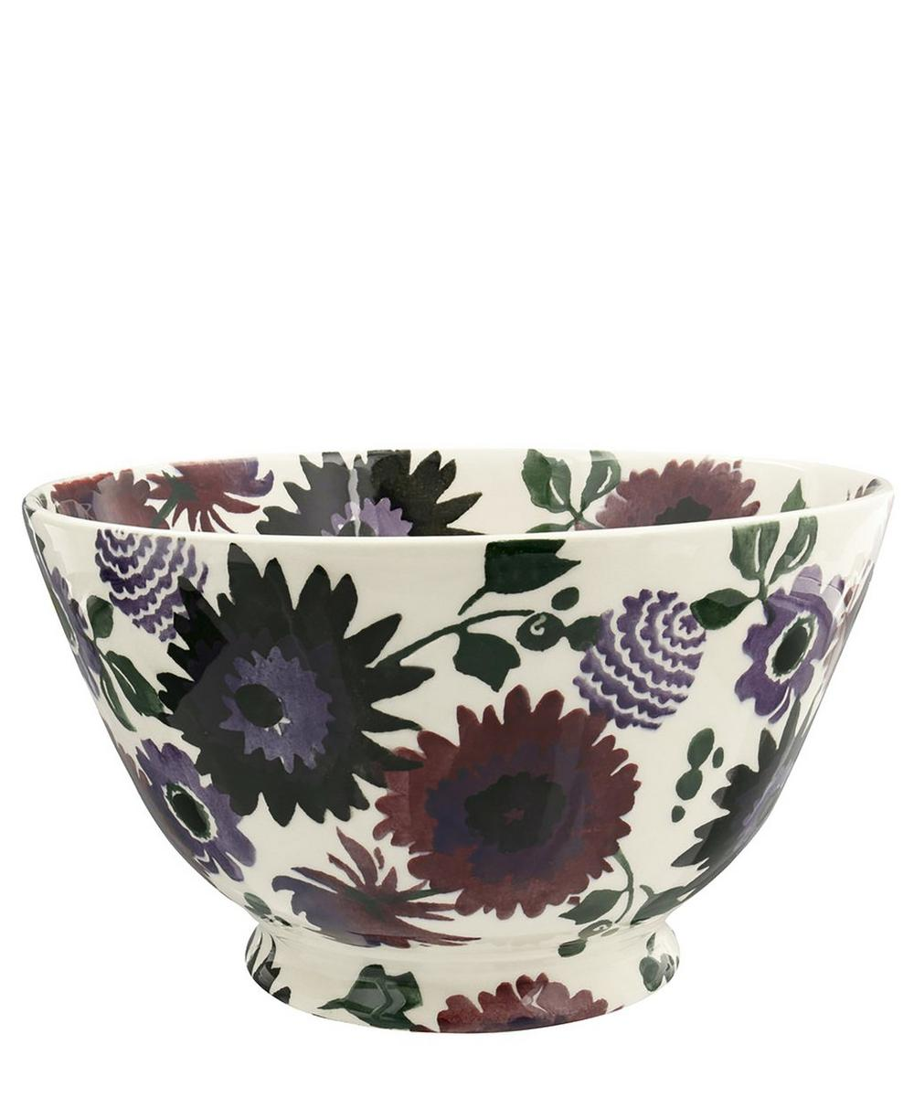 Dark Dahlias Large Old Bowl